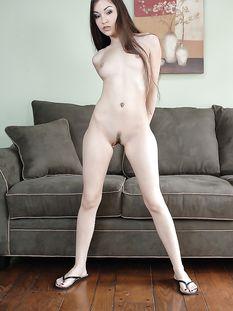 Длинноволосая американская шатенка с маленькой грудью Sasha Grey