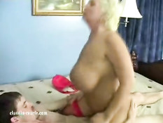 Mature with big tits bouncing
