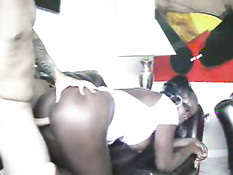 Hot black woman getting fucked