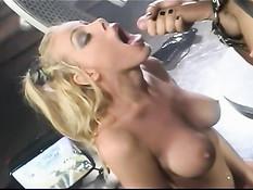 Nicole Sheridan doing great blowjob