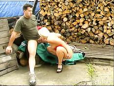 Hot outdoor sex