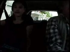 French couple doing it in car and forest