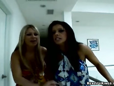 Lucky guy used by two sexy beauties