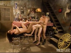 Two female like to taste cowboys cock