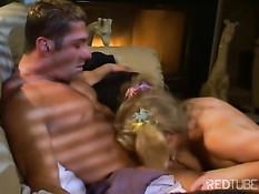 Hot blonde sucks