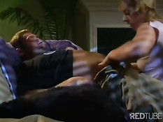 Hot blonde sucks