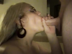 Blonde getting face fucked