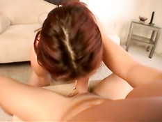 Tabatha licks dick and gets drilled 1