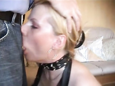 She gets whole dick in mouth