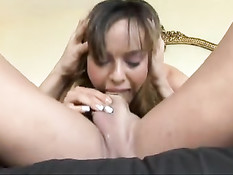 Mouth whore takes cock deep