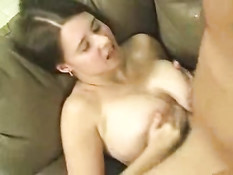 Titfuck on couch