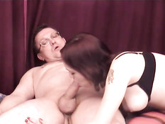 Sexy busty amateur nailed by old dick