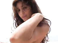 Sultry latina lady stripping