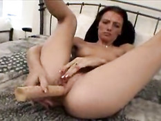 Nadia using dildo on her pussy