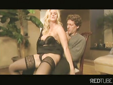 Blond bitch seducing