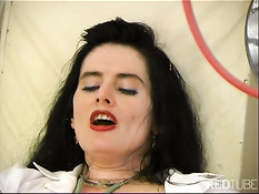 Slut working her holes in gyn chair