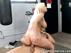 Blonde with monster tits 3