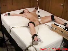 Bondage girl forced to orgasm