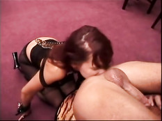 Slavegirl licks her masters' ass