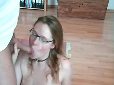 German chick gets a facial