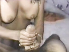 Handjob and dirty talk