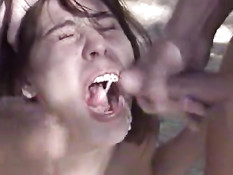 Babe get fucked in the forest