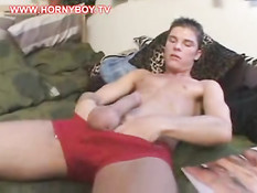 Skater wanking at home