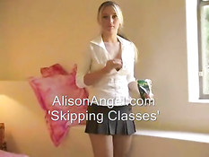 Alison Angel skipping class