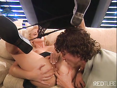 Young couple having wild sex