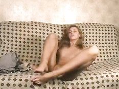 Sweetie playing with her pussy