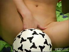 Horny female football fan 1