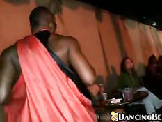 Black guy dancing naked for the girls