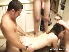 Amateur babe gets three new friends