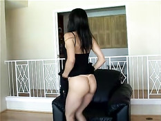 Hot asian babe and white chick banged