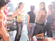 Girlfriends orgy party