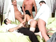 In a gangbang