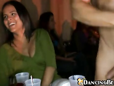 She has to laugh on the sight of his wanky
