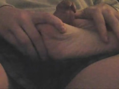 Wife footjob on couch