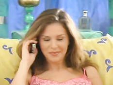 French chick having telephone sex