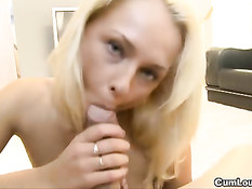 Euro Slut Lucy On Her Knees Giving Head