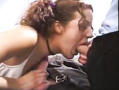 School girl sucking Mr. Proper