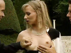 Blonde Slut Gets Double The Pleasure