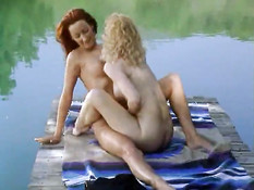 Couple Of Lady Love At The Lake