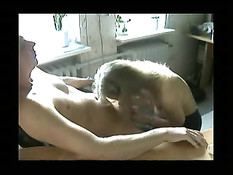 Blonde Wife Sucking Her Man