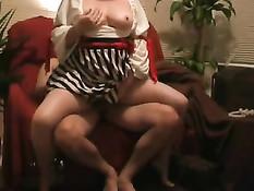 Mature wife dildo plunging
