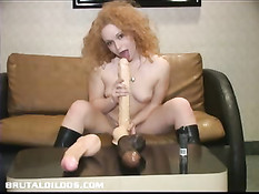 Julia Uses Multiple Dildos To Fuck Herself