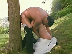 Gorgeous Blonde Bride Fucking In the Open!