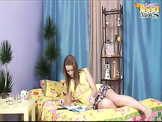 First Time Anal For This Russian Teen