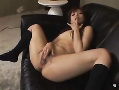 Squirting On Sofa