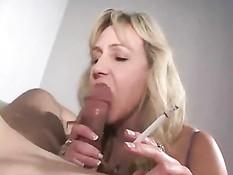 Cock Smoking Amateur MILF